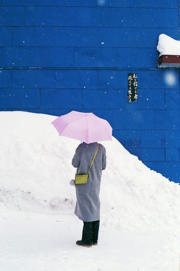 """Kostenloses lizenzfreies Bild der AdSimple Content Marketing Agentur mit dem Titel """"Person, Wand, Schnee und Winter"""" zu den Stichworten 2018, Frühling, Japan, Otaru"""