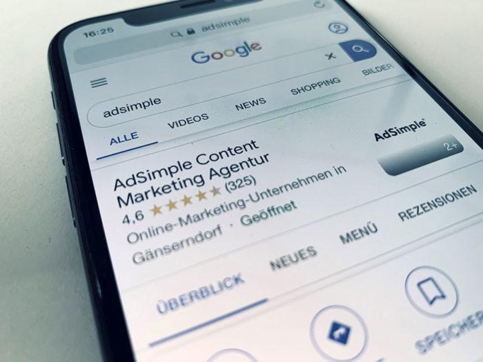Google My Business Beiträge von AdSimple