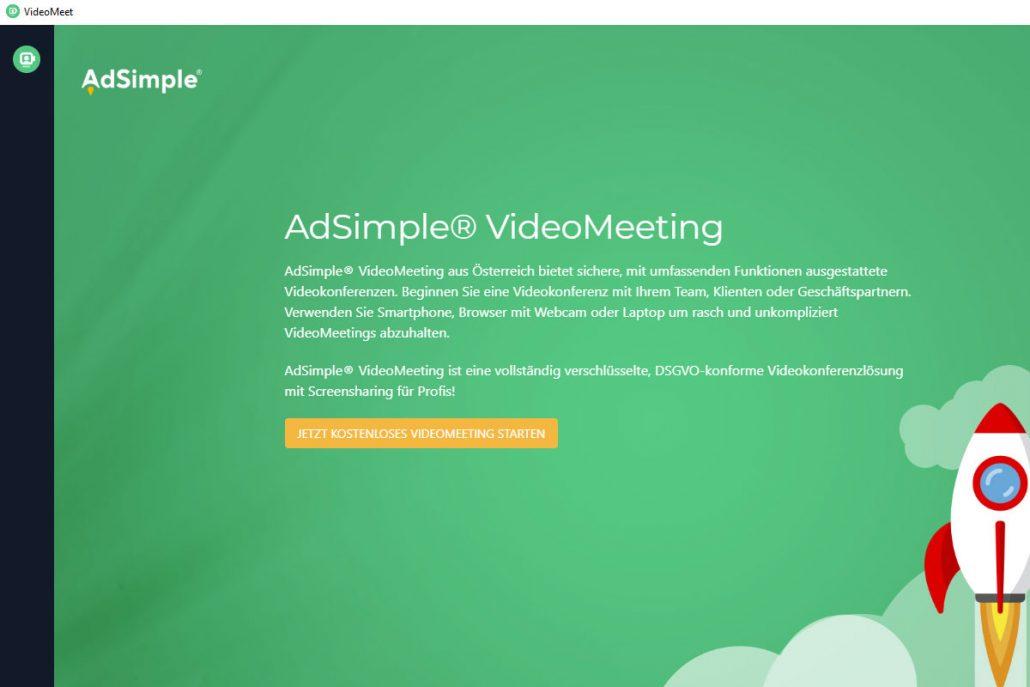 Starten Sie das VideoMeet-App