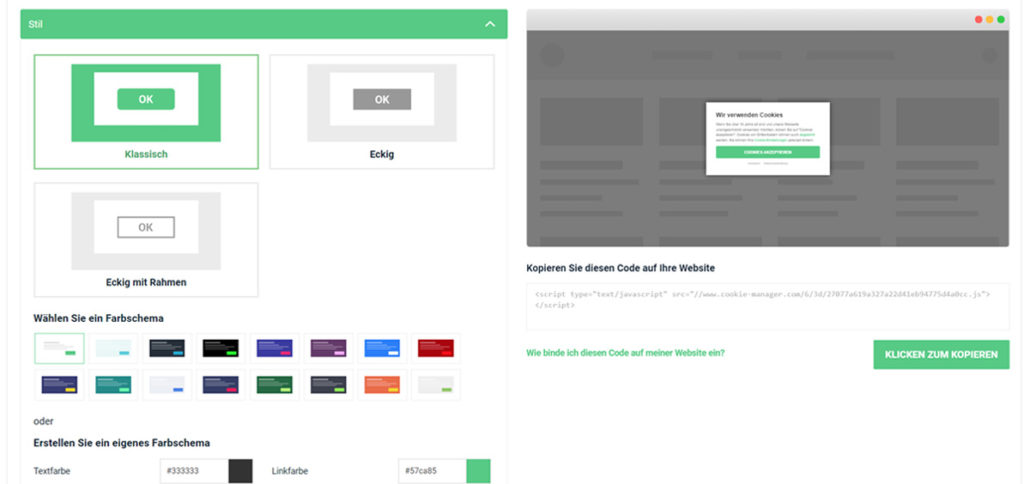 Passen Sie den Stil Ihrer Website an