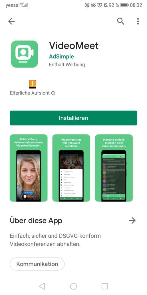 Sie können jetzt unsere App installieren