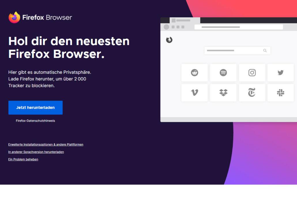 Der Link funktioniert nur bei Chrome oder Firefox