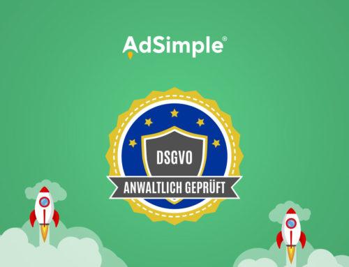 Anwaltlich geprüfte Datenschutztexte bei AdSimple!